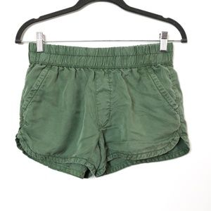 American Eagle | Chambray Forest Green Shorts XS